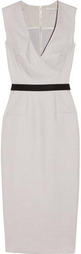 Victoria Beckham Belted textured wool-blend dress
