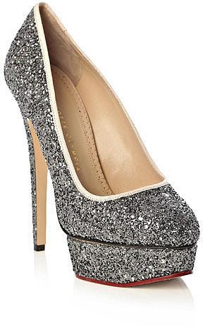 Charlotte Olympia Priscilla glitter shoes