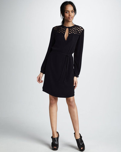 Diane von Furstenberg Bernadette Basket-Neck Dress