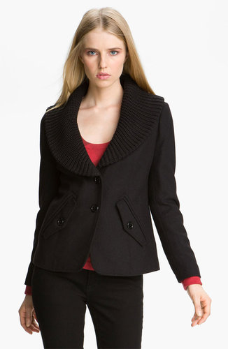 Burberry Brit Knit Shawl Collar Coat