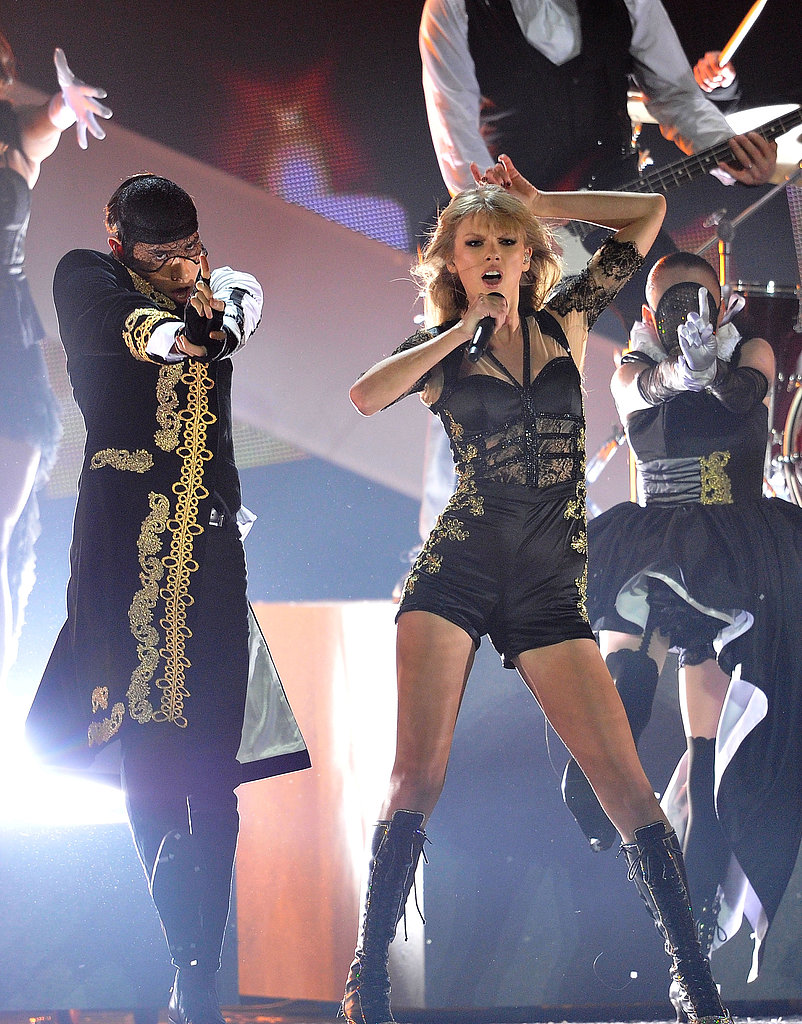 Taylor Swift owned the stage as she performed at the 2013 Brit Awards on February 21.