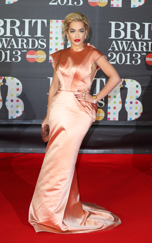 Rita Ora wore Spring 2013 Ulyana Sergee