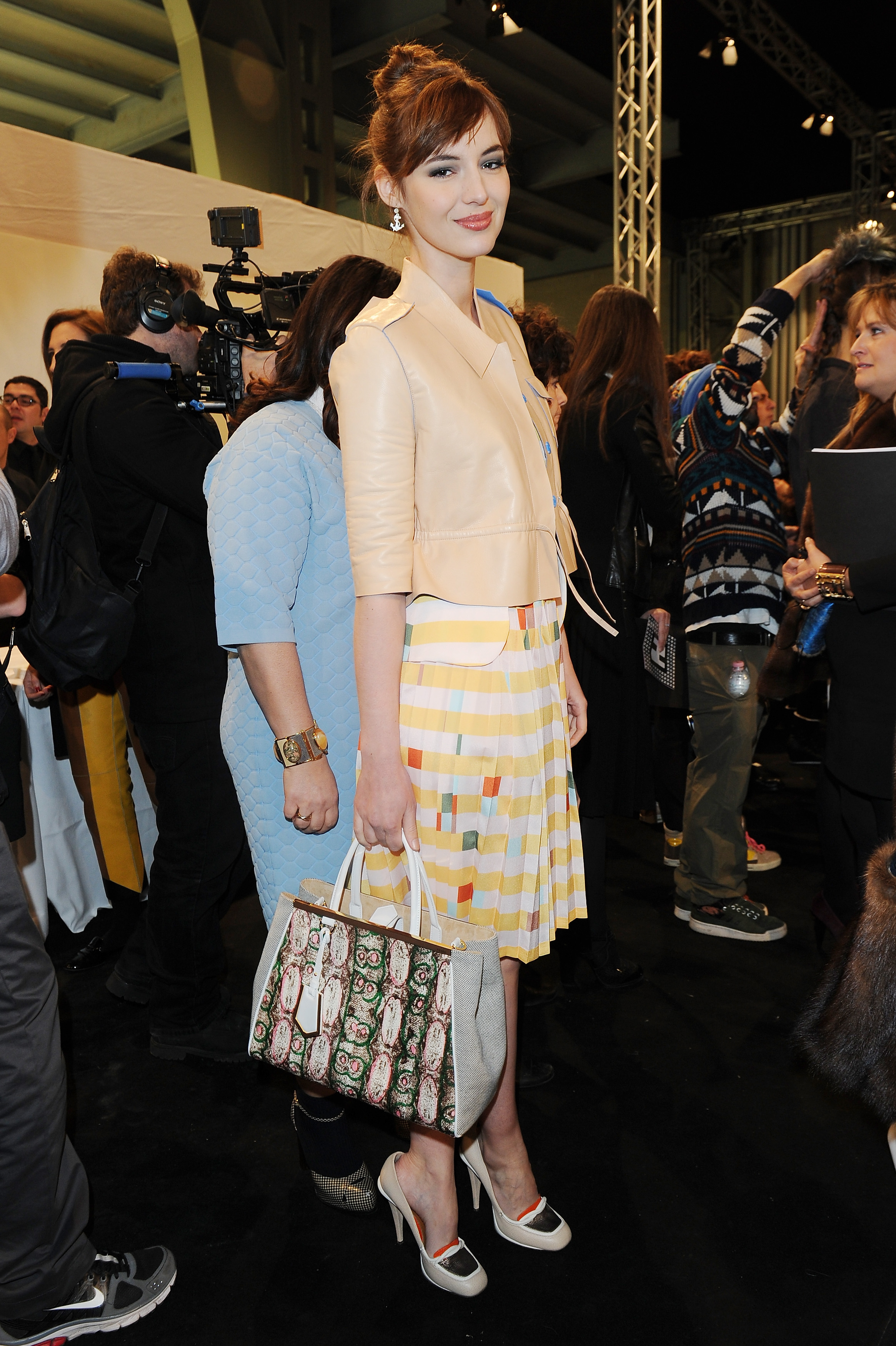 Louise Bourgoin at the Fendi Fall 2013 show in Milan.