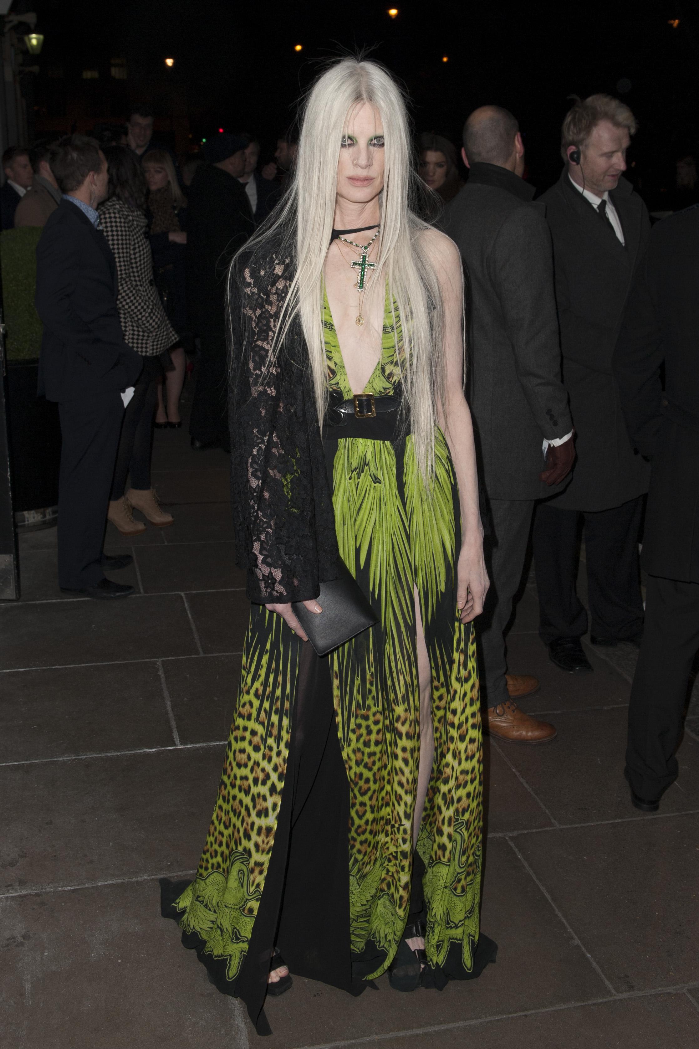 Kristen McMenamy at the Brit Awards in London.
