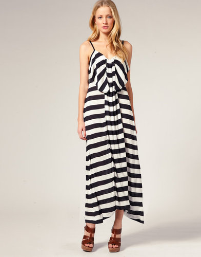French Connection Bow Front Swing Maxi Dress