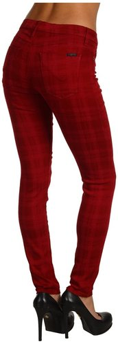 Hudson - Nico Super Skinny Mid Rise in Plaid