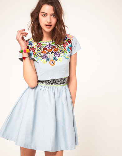 ASOS Dress With Embroidered T-Shirt