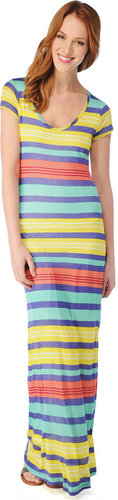 Beach Towel Stripe Maxi Dress