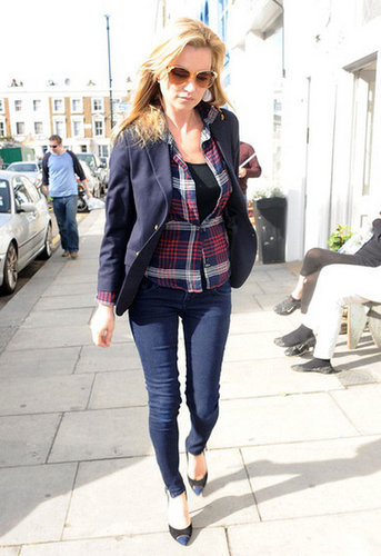 Dana Button Down Plaid Shirt in Navy - as seen on Kate Moss - by Rails