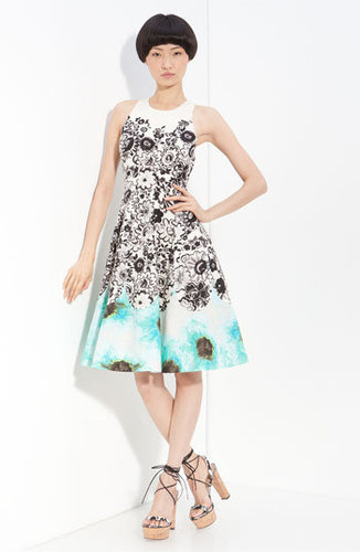 Tracy Reese Sleeveless Floral A-Line Frock
