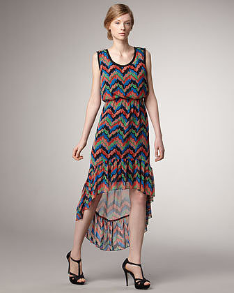 Phoebe Couture Printed High-Low Dress