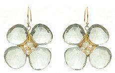 Amanda Rudey Big Bloom Green Amethyst Earrings