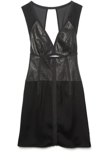 Alexander Wang Leather Cut-Out Slip Dress