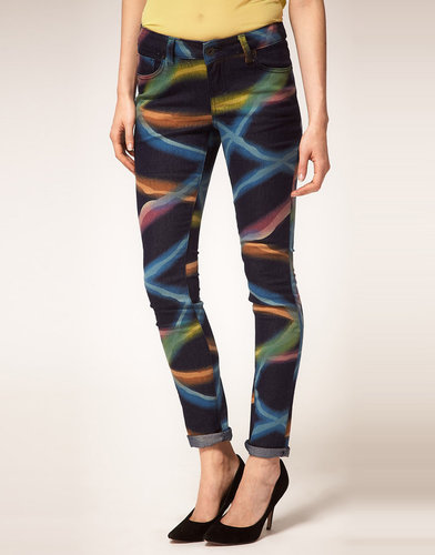 ASOS Skinny Jeans in Electric Rave Print #4