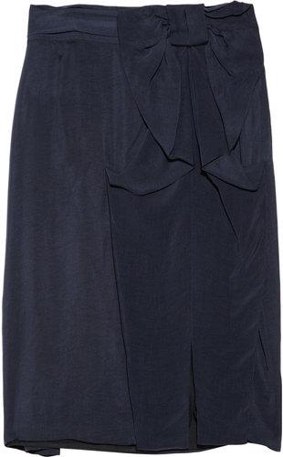 RED Valentino Brushed satin-twill skirt