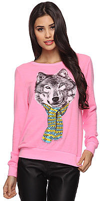 Forever 21 Cozy Wolf Top