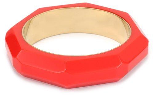 Kate Spade New York Triple Threat Faceted Red Bangle Bracelet