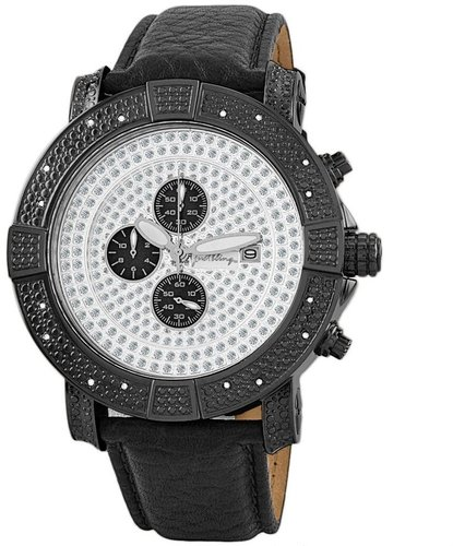 "Just Bling Men's JB-6115L-H "" Gotham"" Chronograph Pave Dial Diamond Watch"