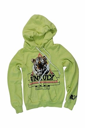 Rebel Yell Unruly Pullover Hoodie in Neon Yellow