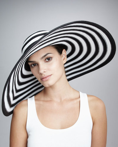 Eric Javits Striped Wide-Brim Hat