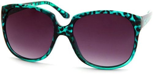 Leopard Print Oversized Shades
