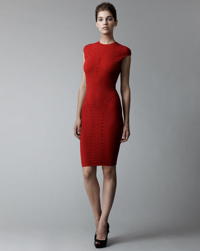 Alexander McQueen Patterned Intarsia Knit Sheath Dress
