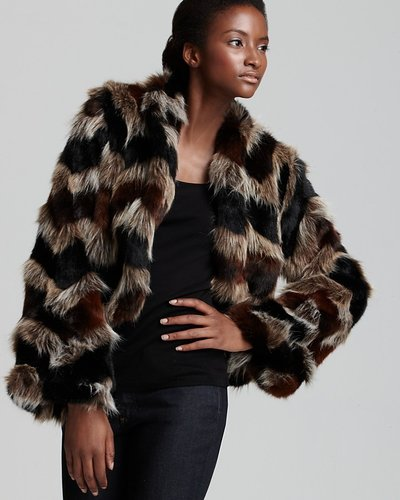Ella Moss Keith Multicolor Faux Fur Jacket