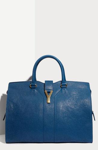 Yves Saint Laurent 'Cabas Chyc - Large' Leather Satchel