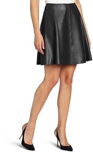 DKNYC Women's Lamb Flare Skirt