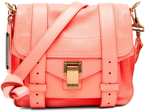 Proenza Schouler PS1 Pouch in Neon Coral