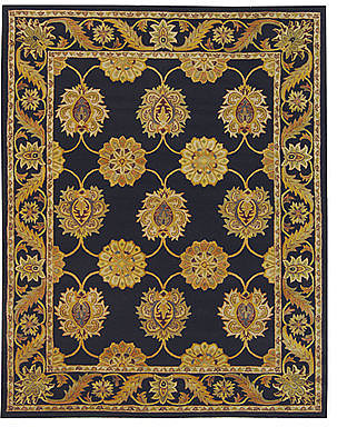 "MANUFACTURER'S CLOSEOUT! Safavieh Area Rug, Heritage HG314A Black 2' 3"" x 8'"