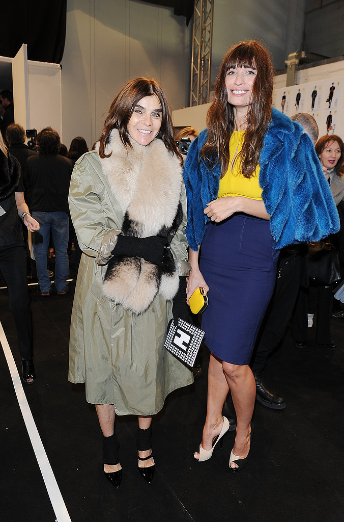 Carine Roitfled and Caroline de Maigret