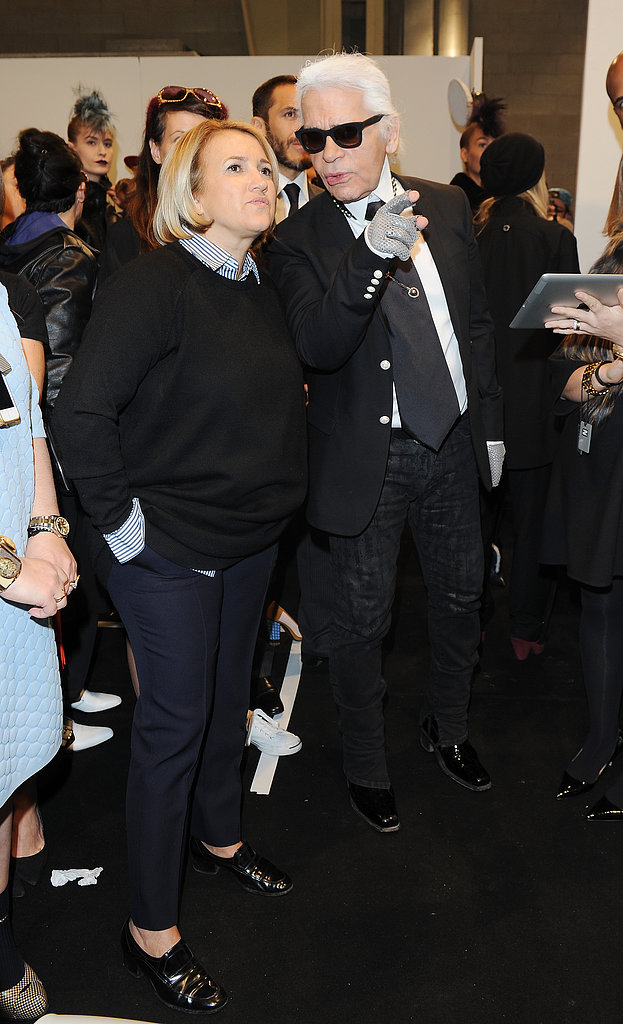Silvia Venturini Fendi and Karl Lagerfeld
