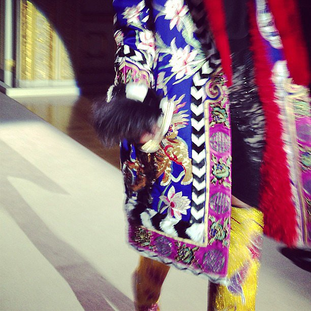 Tom Ford colours coming down the runway — as seen by fashionista Christine Centenera. Source: Instagram user centenera