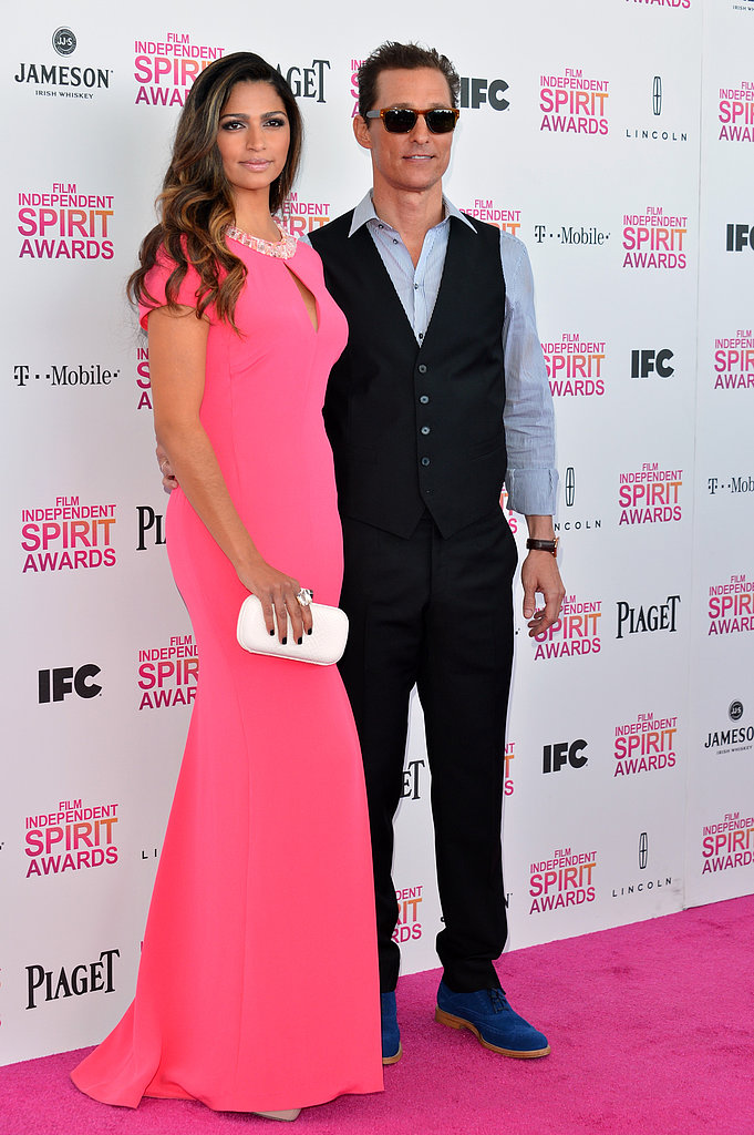 Matthew McConaughey and Camila Alves headed to the Spirit Awards together.