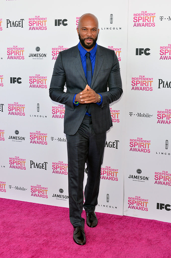 Common on the red carpet at the Spirit Awards 2013.