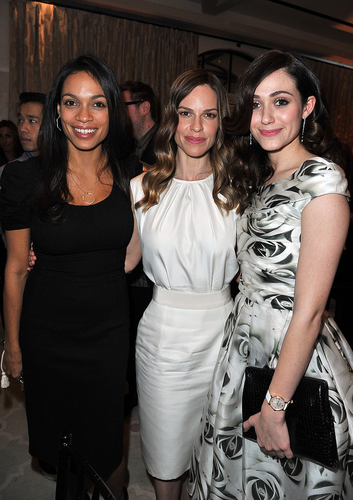 Rosario, Hilary, and Emmy posed in their black and white looks.
