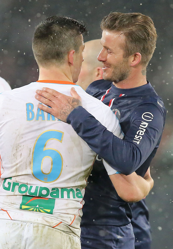 David Beckham was congratulated after his first start for Saint-Germain.
