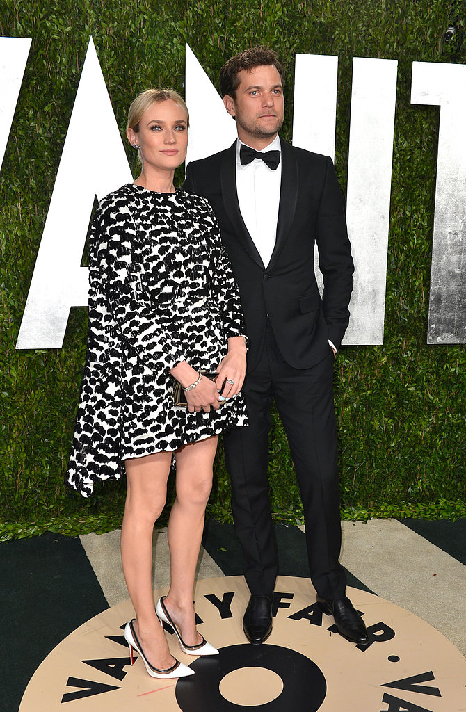 Diane Kruger and Joshua Jackson arrived at the Vanity Fair Oscar party.