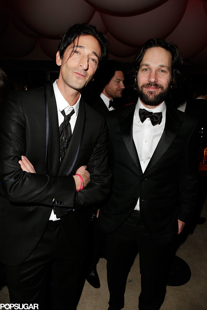Adrien Brody and Paul Rudd buddied up at Vanity Fair's after-party.
