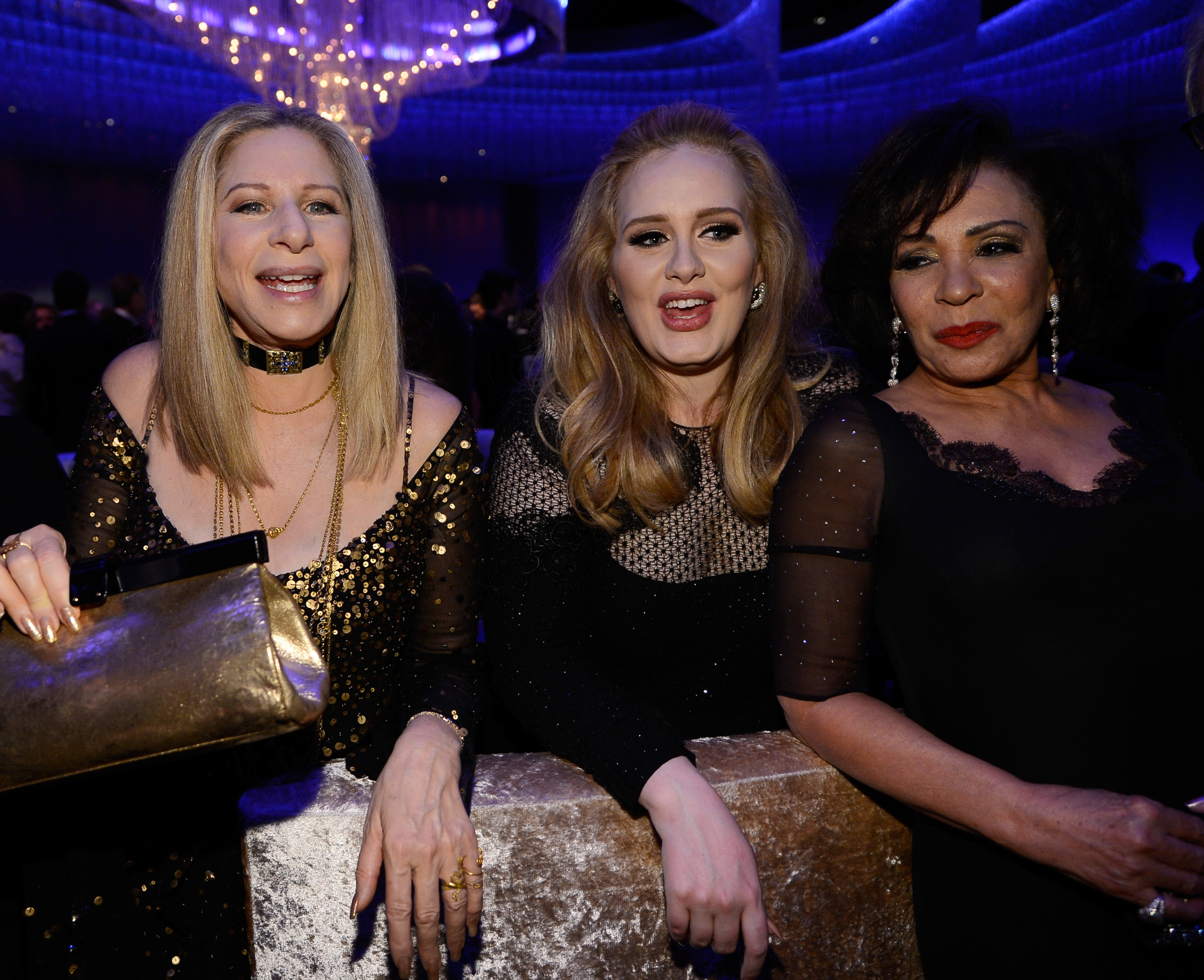Adele, Barbra Streisand, and Shirley Bassey had a blast at the Governors Ball.