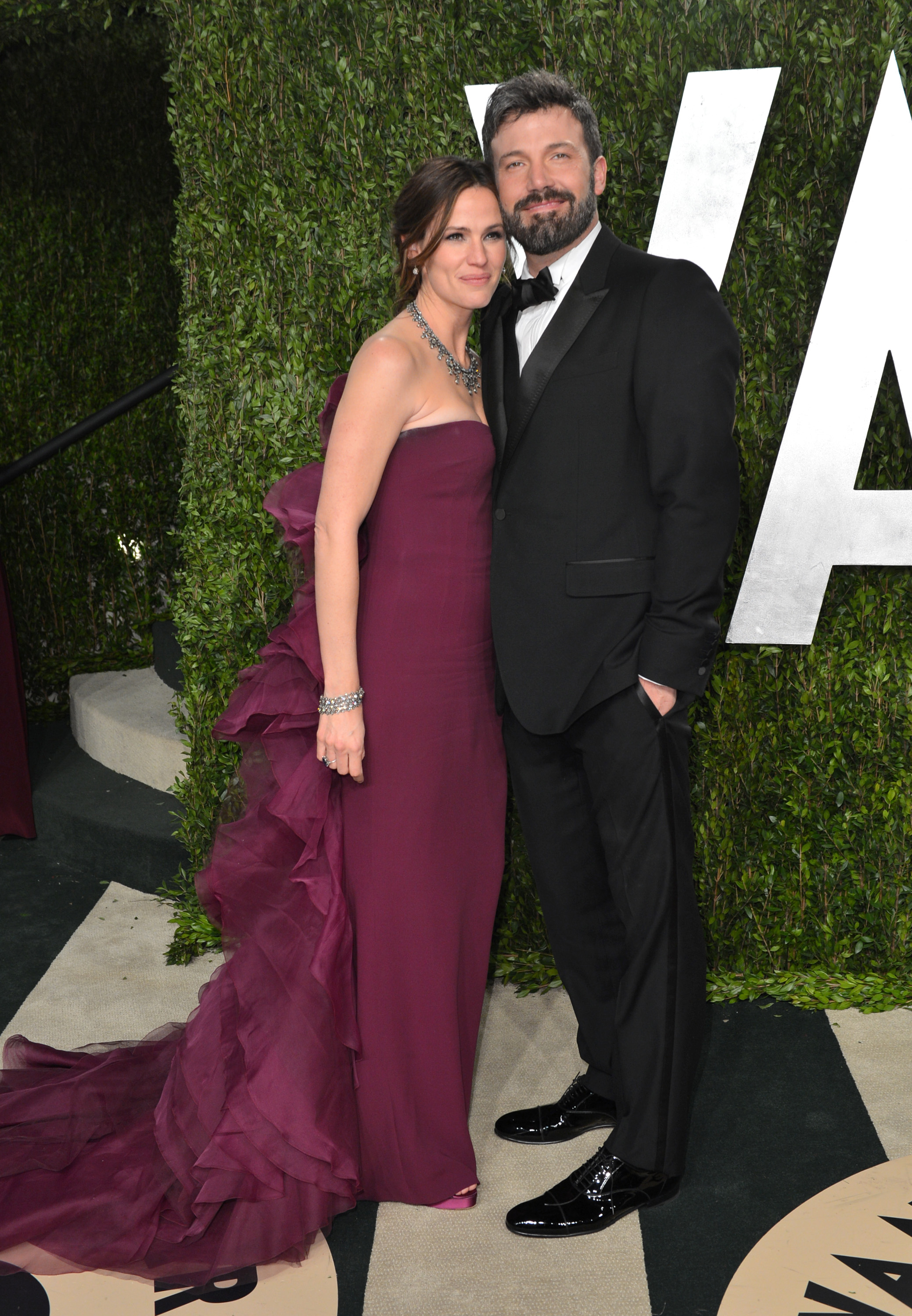 Ben Affleck and Jennifer Garner arrived at the Vanity Fair Oscars party.