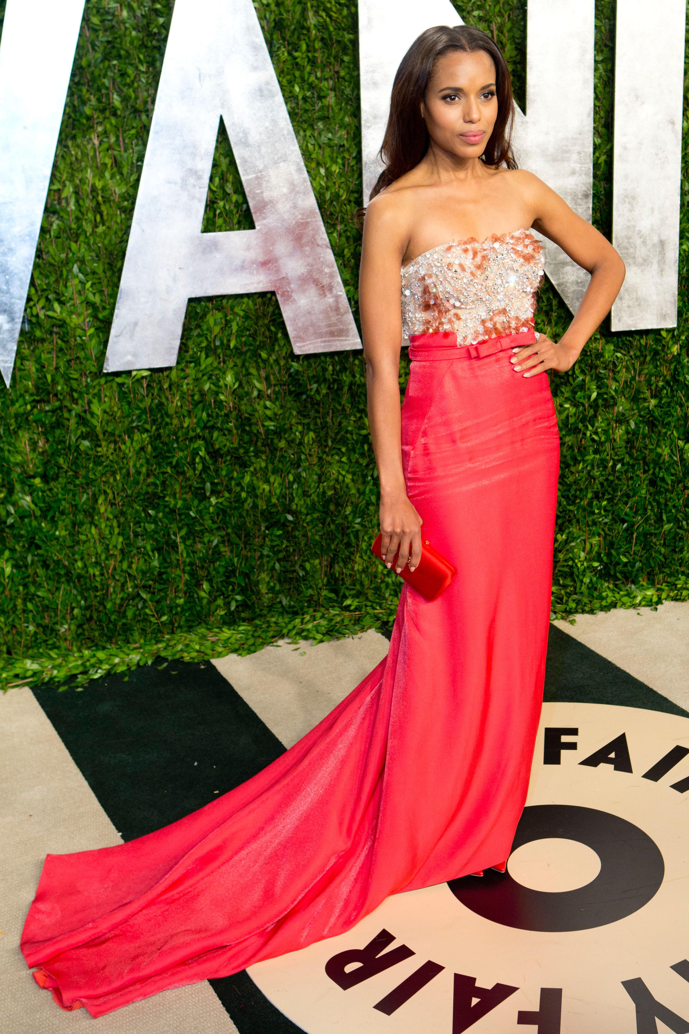 Kerry Washington arrived at the Vanity Fair Oscar party.
