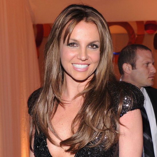 Britney Spears With Brown Hair at Elton John's Oscars Party