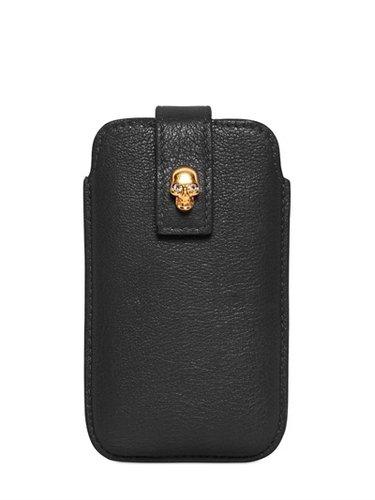 Alexander Mcqueen - Skull Leather Iphone Case