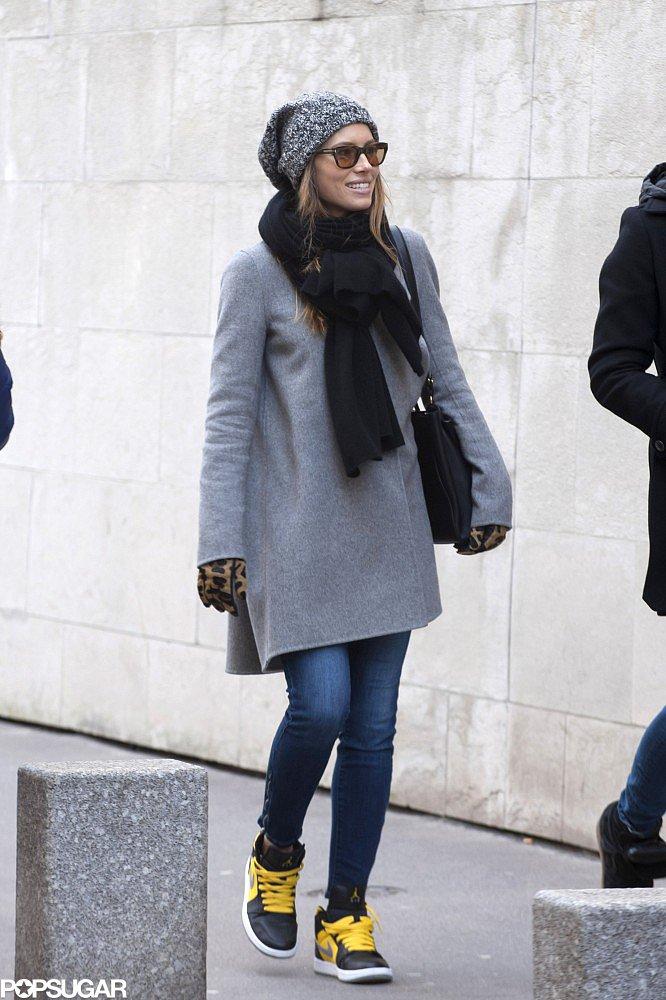Jessica Biel went sightseeing with a friend in Paris.