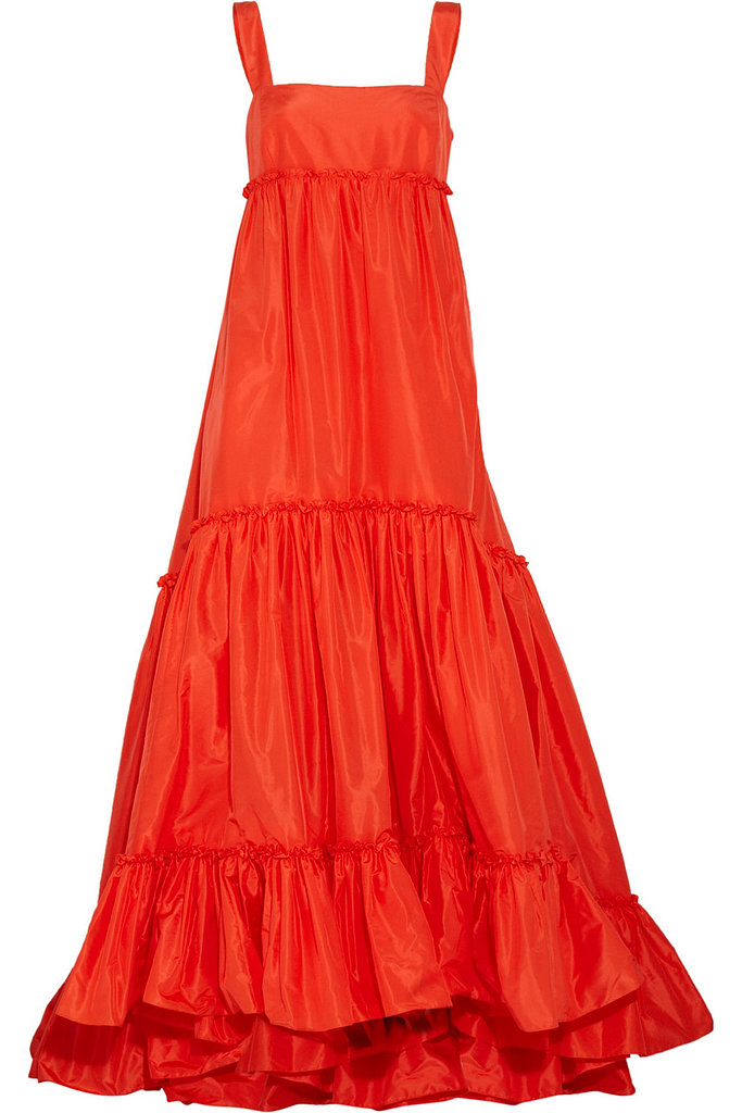 Oscar de la Renta for The Outnet silk-taffeta trapeze gown