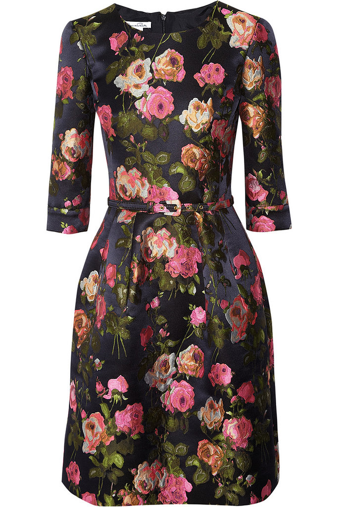 Oscar de la Renta for The Outnet floral-jacquard dress