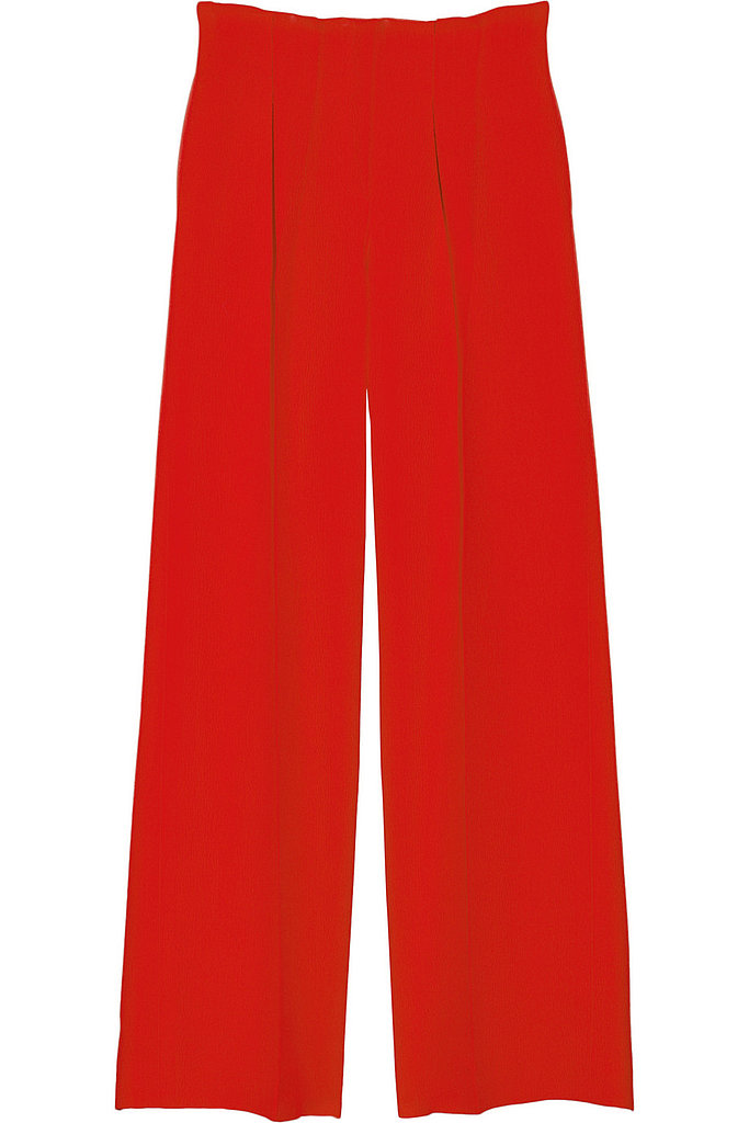 Oscar de la Renta for The Outnet silk and wool-blend crepe wide-leg pants