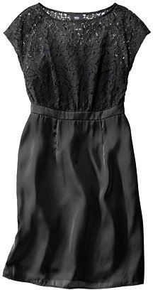 Mossimo® Women's Lace Overlay Bodice Dress - Assorted Colors